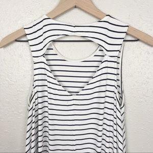 American Eagle Outfitters Dresses - AEO open back swing tank tee shirt dress striped